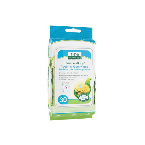 Aleva Naturals Bamboo Baby Tooth & Gum Wipes