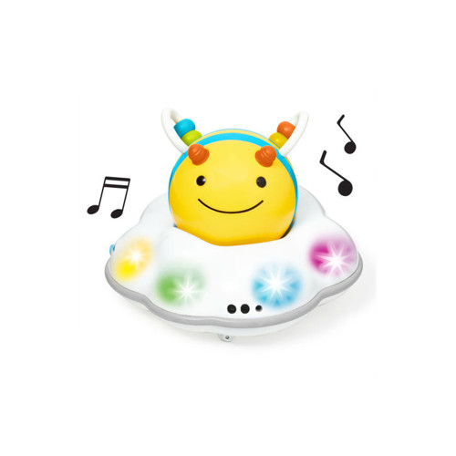 Designed to grow with your baby through three stages, our motorized crawl toy challenges and encourages little ones learning to crawl with colorful lights, energetic tunes and sweet buzzing sounds.
