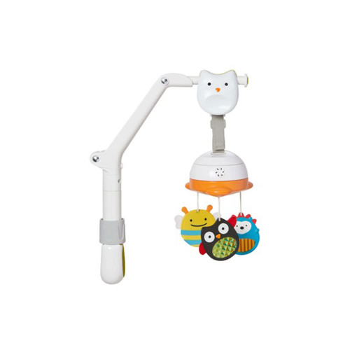 Entertain baby on the go with our take along mobile! Our portable baby mobile easily attaches to cribs, strollers and car seat carriers to engage and soothe baby with movement and music.