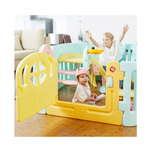 Yaya Spiral Slide & Babyroom (Mint), 1+1>2, more than a playroom plus slide