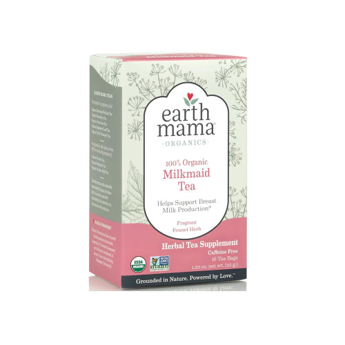 Blended with traditional herbal galactagogues like organic Fennel seed and mineral packed herbs, Organic Milkmaid Tea helps keep breast milk flowing from happy mama to hungry baby.*