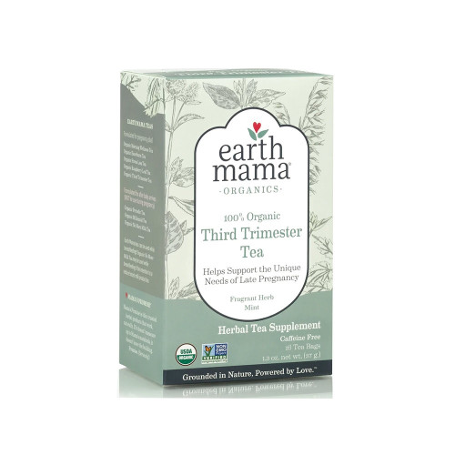 You. Are. Almost. There! Yay! So we made this for you: Organic Third Trimester Tea is a hearty blend of stinging nettles, chamomile, rosehips, oatstraw and red raspberry leaf, traditionally used to nurture your third trimester self and to prepare for labor. It's a time-honored blend for the occasional leg cramp that can…um…CRAMP your style in the third trimester.