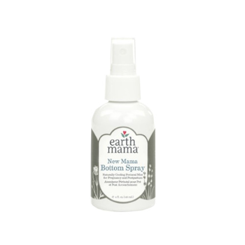 New Mama Bottom Spray is a cooling, soothing perineal mist that helps ease discomfort of postpartum vaginal soreness and swelling, episiotomies and hemorrhoids.