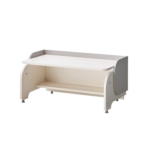 This is an Eddie Kids Elephant Desk with a compact size and cute elephant face.