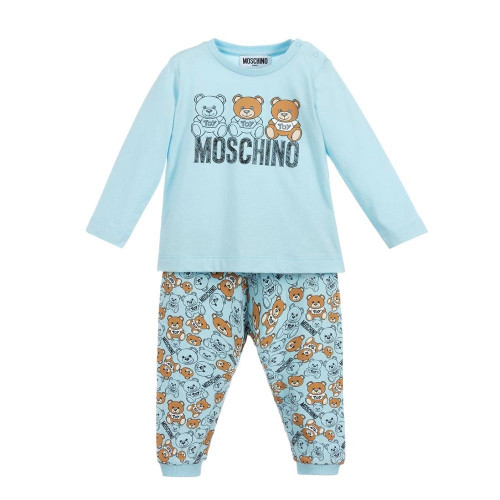 Moschino T-shirt And Trousers Set SKY