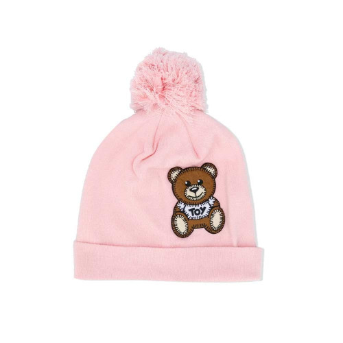 Moschino Hat With Bear Toy Patch ROSE