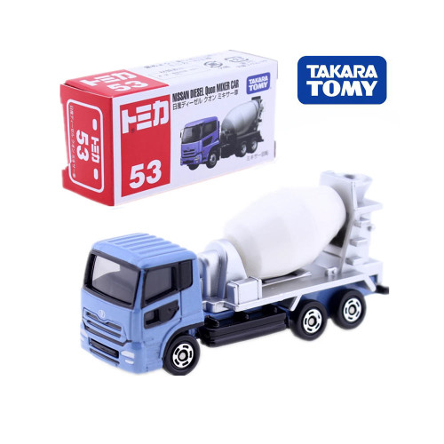 Takara Tomy TOMICA NISSAN QUON DIESEL Cement MIXER No.53 Metal Car Miniatures Diecast Truck Model Hot Pop Baby Toys