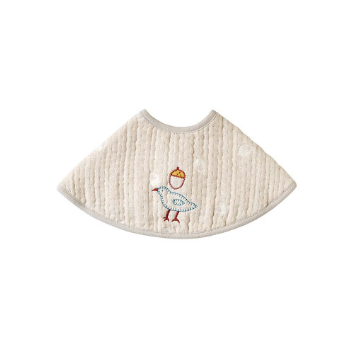 Hoppetta Guri Six-Layer Gauze Bib  Gray