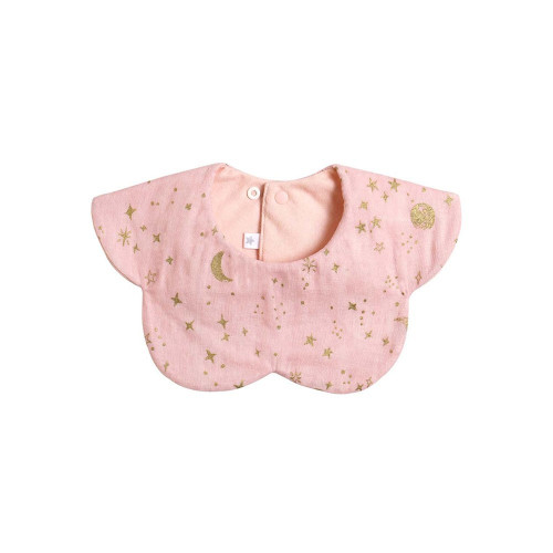 A cloudy cloudy style. A reversible tie that can be used on either the surface with the glittering moon or star pattern printed on it, or the simple plain back with a petit ribbon accent.