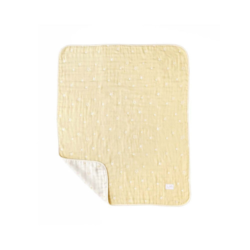 A baby pad that is water absorbent and heat retaining, and can be used all year round.