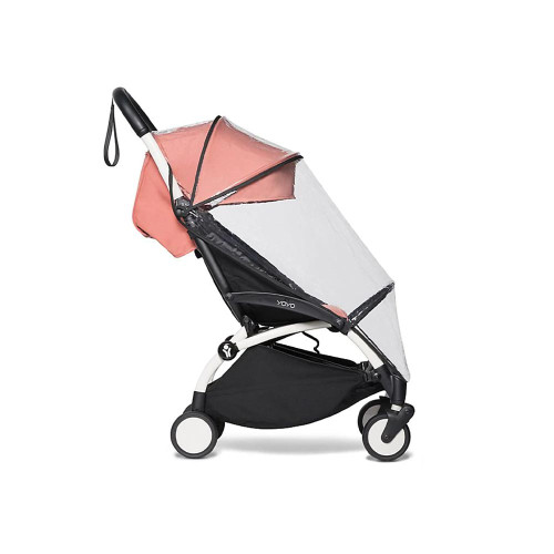 YOYO rain covers are suitable for the newborn pack, the bassinet, and the 6+ color pack.