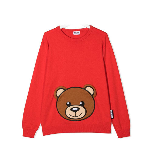 Moschino Sweater With Large Bear Red