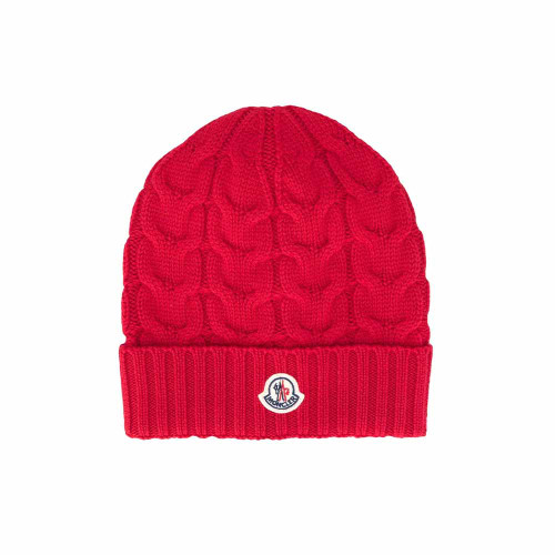 it is a TEEN chunky-knit logo patch beanie