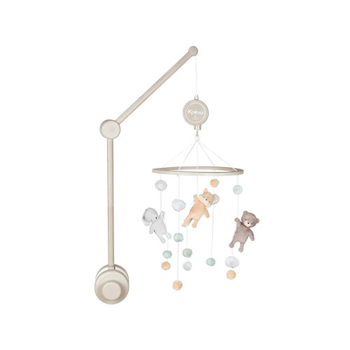 This lovely wooden musical mobile, with its soft colours and attractive setting, will beautify your baby's bedroom.