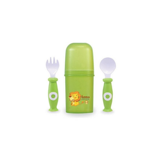 Simba Cased  Cutlery Set  Green