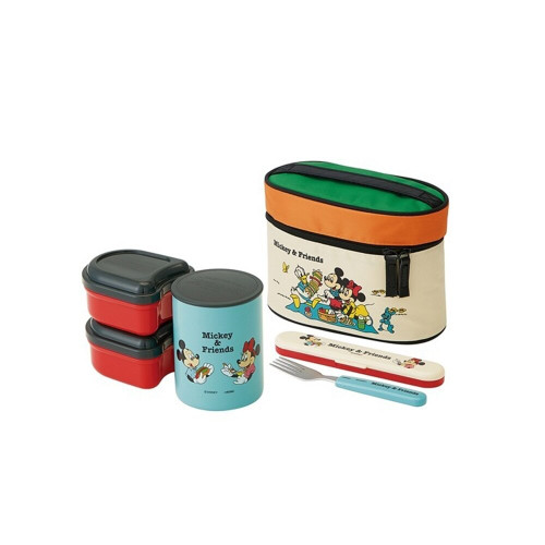 Skater lunch bag with Thermos Lunch Box Mickey