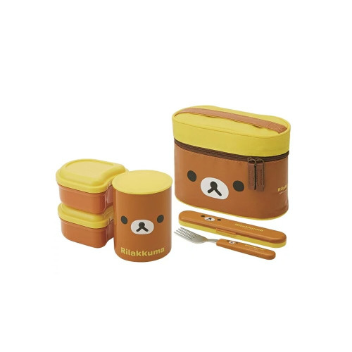 Skater lunch bag with Thermos Lunch Box Rilakkuma