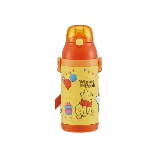 Skater Thermos Straw Bottle 380ml Pooh