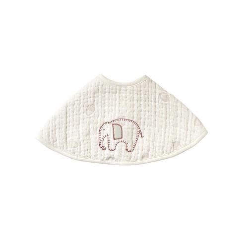 A fluffy gauze (6 layers) bib that feels good on the skin and absorbs moisture well.