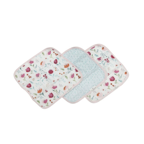 Gentle enough for baby's delicate skin, our super-soft muslin washcloths are backed with terry made from bamboo. They're generously sized at 12 inches by 12 inches so mom and dad can use them, too!