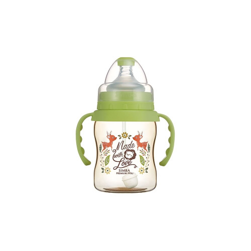 Simba Handle Wonderland PPSU Wide Neck Feeding Bottle(200) Green