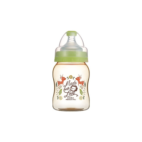 Simba Wonderland PPSU Wide Neck Feeding Bottle(200ML) Green