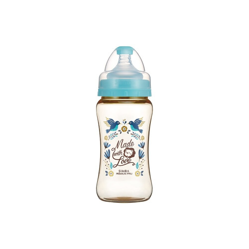 Simba Wonderland PPSU Wide Neck Feeding Bottle(270ML) Blue
