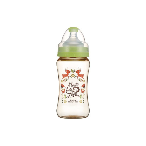 Simba Wonderland PPSU Wide Neck Feeding Bottle(270ML) Green