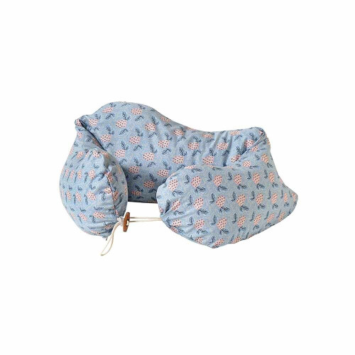 The long type cushion is a convenient item that can be used as a pillow when it is stretched, used as a breastfeeding cushion around the waist after childbirth, and as a baby sitting aid.