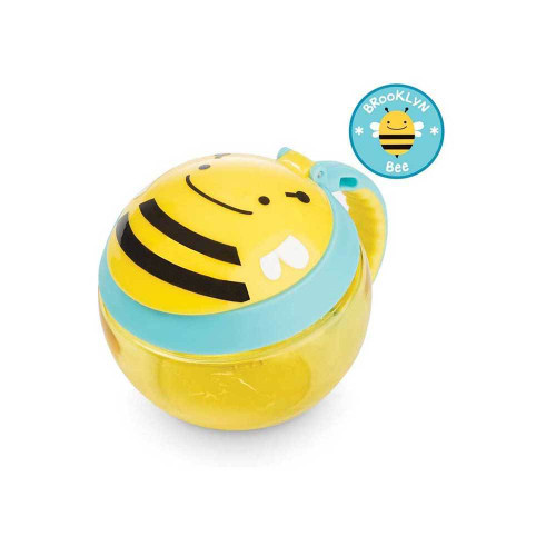 Perfect for toting munchies, this cute cup encourages independent snacking without the mess.