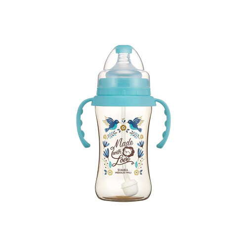 Simba Handle Wonderland PPSU Feeding Bottle(270ML) Blue