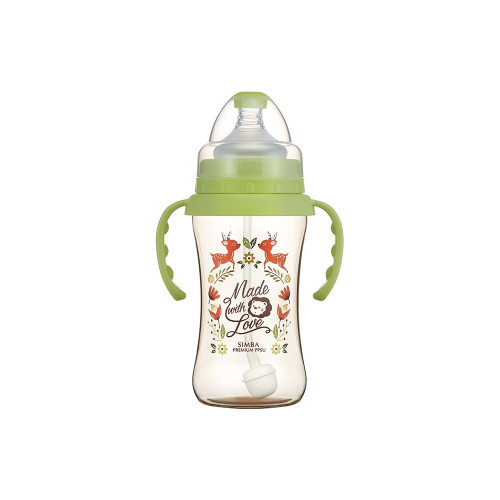 Simba Handle Wonderland PPSU Feeding Bottle(270ML) Green