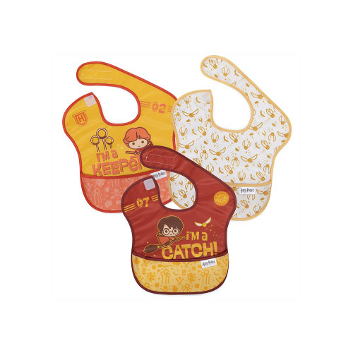 These SuperBibs feature designs and characters inspired by J.K. Rowling's Wizarding World.