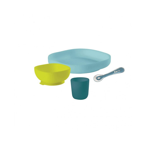 Beaba Silicone Meal Set 4P Peacock
