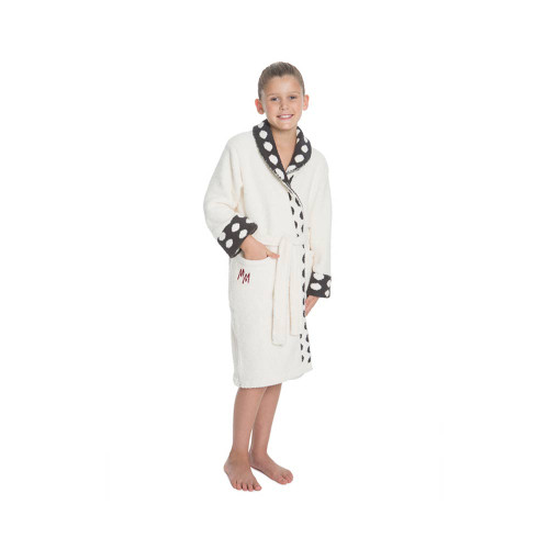 Envelop the world of Disney with our custom Cozychic Classic Youth Robe featuring Disney Minnie Mouse.   Our world renowned, iconic feather yarns are artfully knit to feature the silhouette of Minnie Mouse.