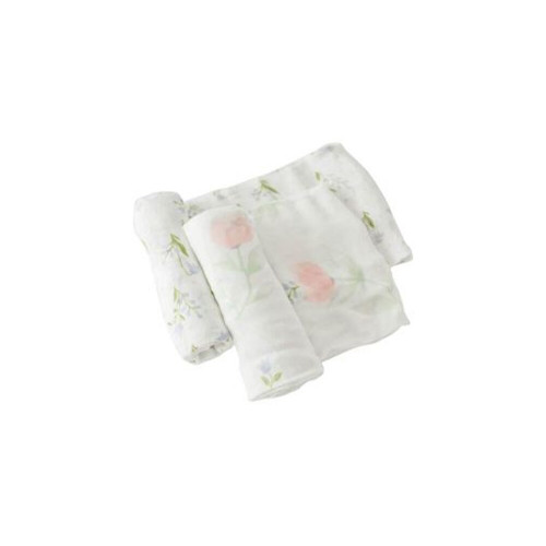 Little Unicorn Deluxe Muslin Swaddle 2 Pack Pink Peony
