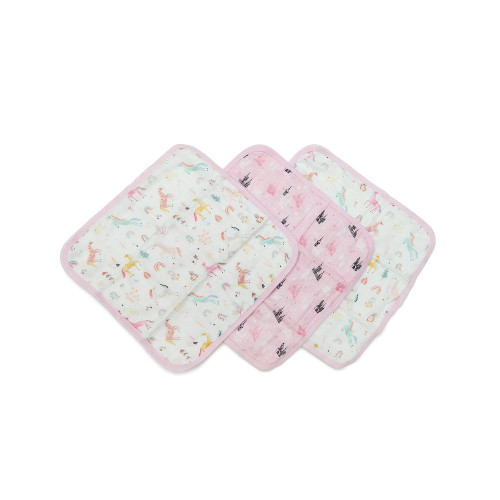Gentle enough for baby's delicate skin, our super-soft muslin washcloths are backed with terry made from bamboo. They're generously sized at 12 inches by 12 inches so mom and dad canuse them, too!