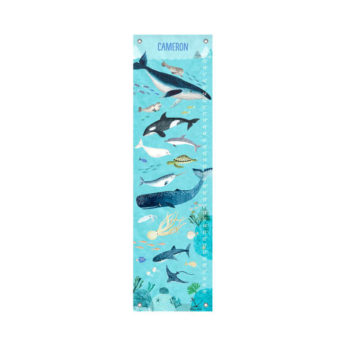 Oopsy Daisy Canvas Growth Chart Ocean Waters