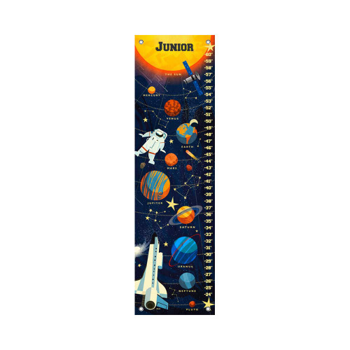 Oopsy Daisy Canvas Growth Chart Deep Space Solar