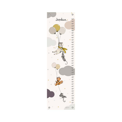 Oopsy Daisy Canvas Growth Chart Flying Away