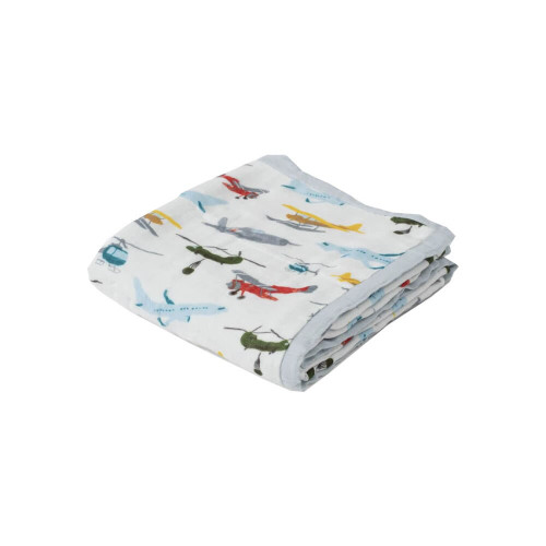 Little Unicorn Deluxe Muslin Quilt Air Show