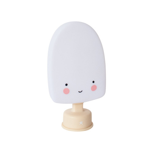 Super cute mini popsicle light available in four colours. These eco-friendly lights are child safe and made from BPA- and lead-free PVC; and give a soft glow when turned on.