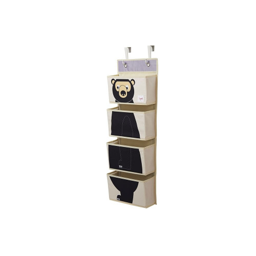 3 Sprouts Hanging Wall Organizer Bear/Black