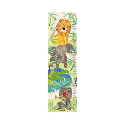 Oopsy Daisy Canvas Growth Chart Jungle Buddies
