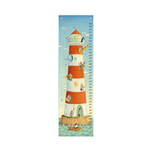 Oopsy Daisy Canvas Growth Chart Lighthouse Bay Buddies