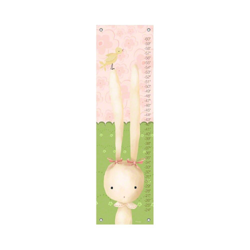 Oopsy Daisy Canvas Growth Chart Sweet Bunny