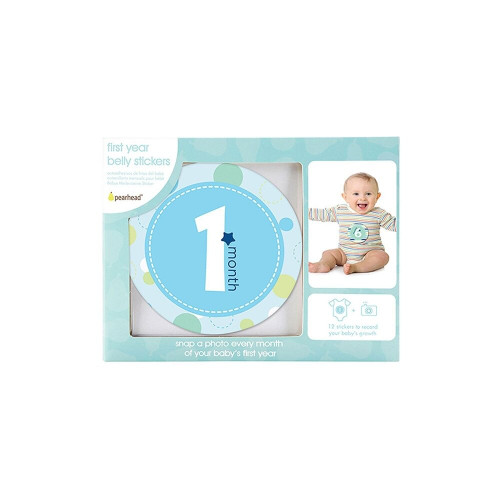 Adore every moment of baby's first year with Pearhead's original first year belly stickers