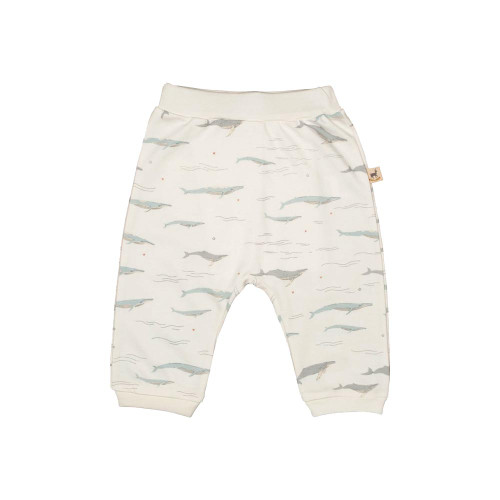 Red Caribou Basic Pants Passing Whales Eco White