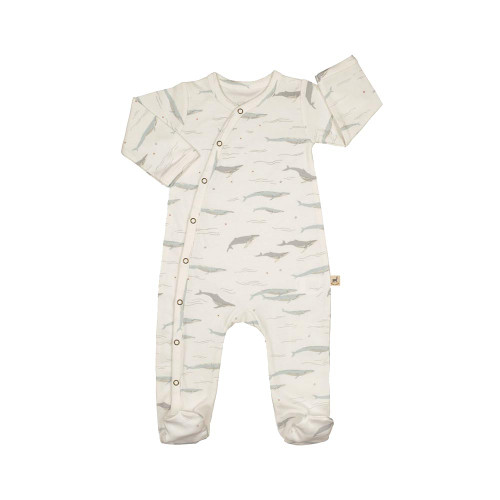 Red Caribou Footed Jumpsuit Passing Whales