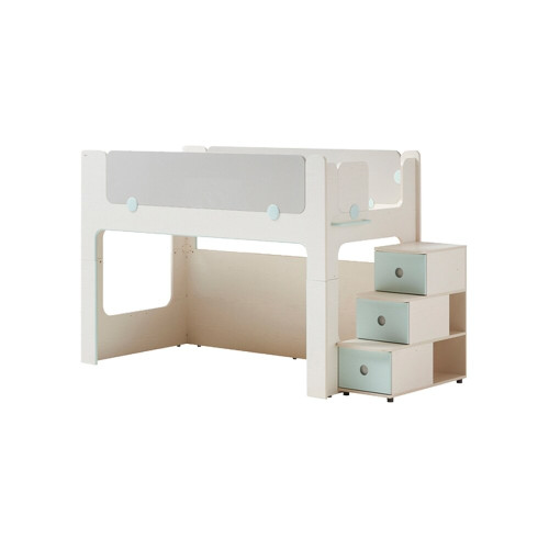Iloom Cabin Bunk Bed Stairs Type Ivory and Mint